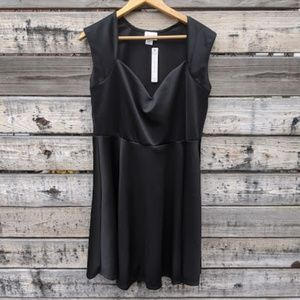 NWT SWAK Black Sweetheart Fit and Flare Dress 1X